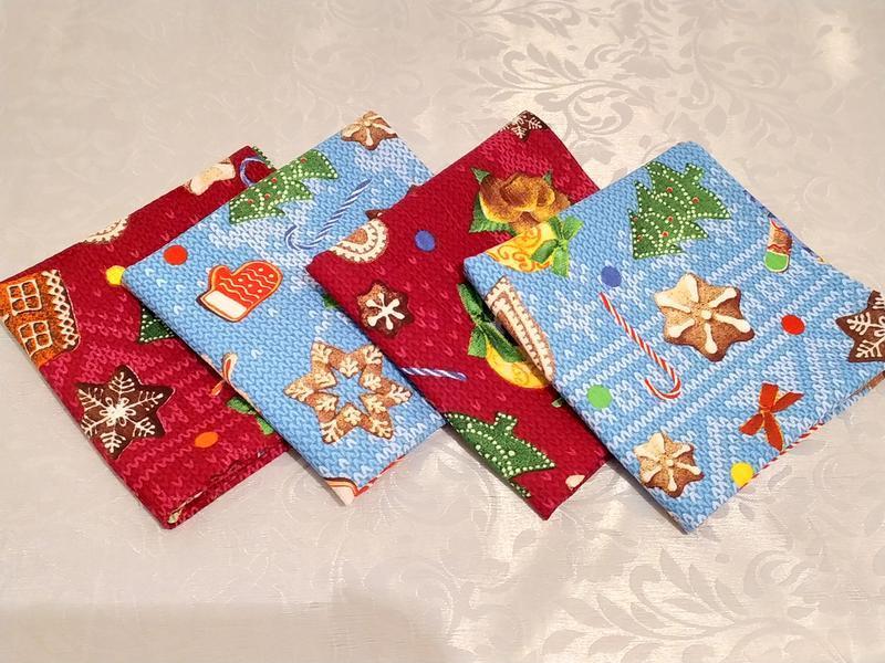 Набор из 2 новогодних вафельных полотенец размером 36х73 - Фото 2