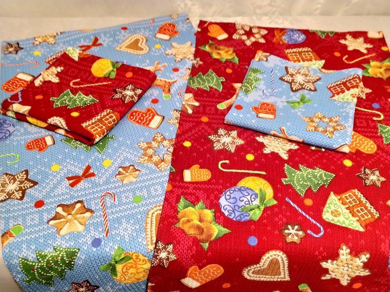 Набор из 2 новогодних вафельных полотенец размером 36х73 - Фото 3