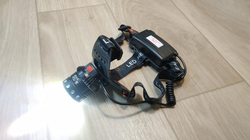 Фонарь аккумуляторный налобный BL-105-T6+COB, zoom (2х18650, 3...