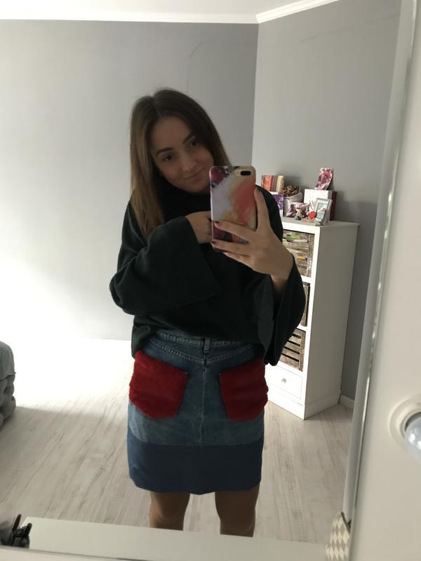 Юбка джинсовая спідниця  джинсова zara