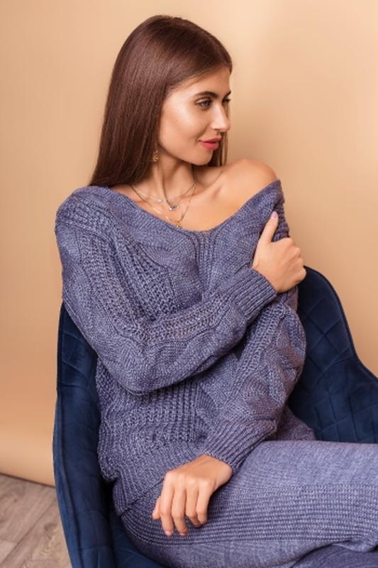 Костюм женский вязанный шерсть