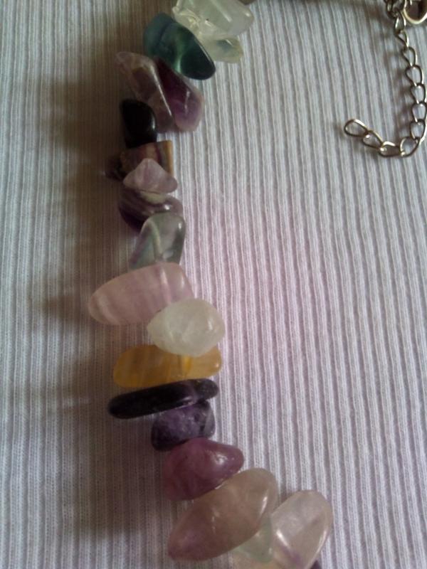 Бусы из крупных камней  флюорита - Фото 2