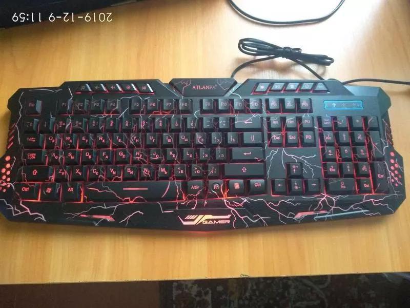 Игровая клавиатура с подсветкой Tricolor M200 Atlanfa - Фото 5
