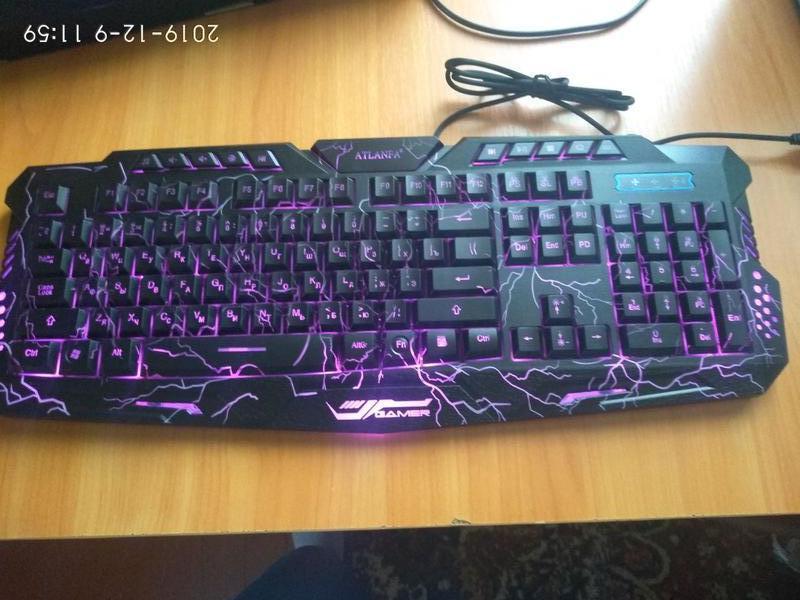 Игровая клавиатура с подсветкой Tricolor M200 Atlanfa - Фото 6