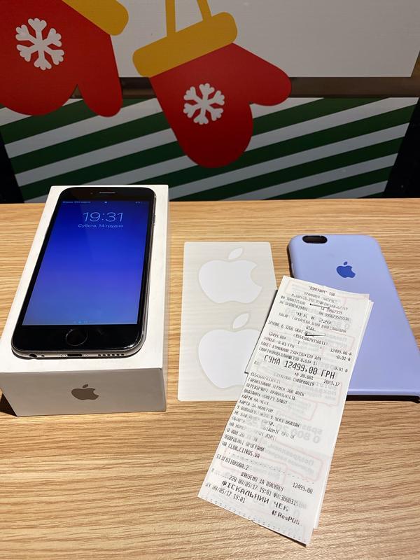 Официальный Apple IPhone 6 Space Gray 32 gb Neverlock + чехол - Фото 5