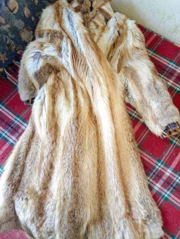 Шуба хутро лисиця натуральный мех лиса