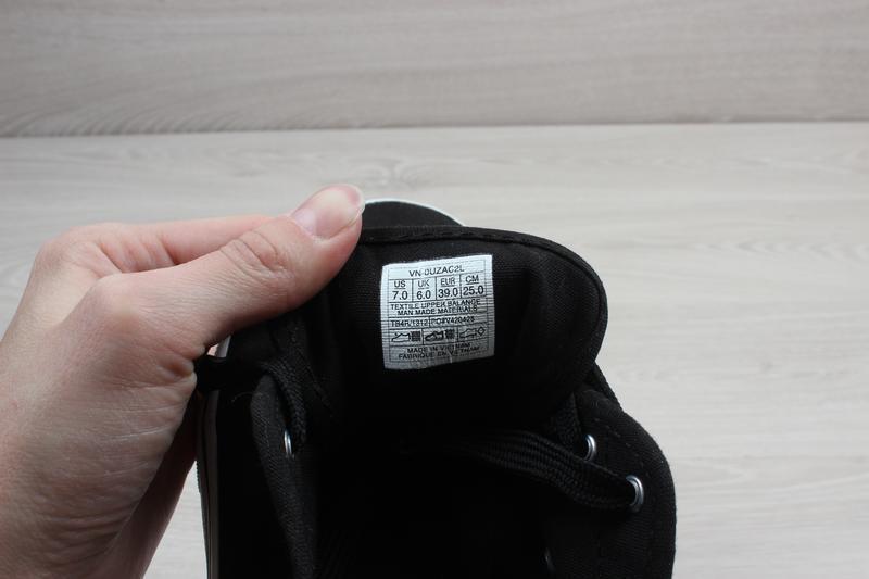 Черные кеды vans оригинал, размер 39 - Фото 8