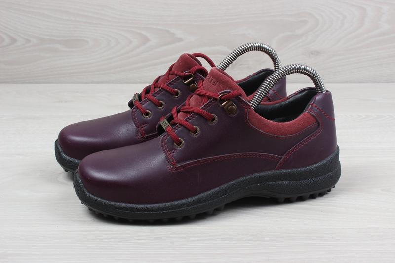 Кожаные женские кроссовки hotter, размер 37 (ботинки gore-tex) - Фото 7