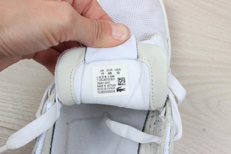 Мужские кроссовки lacoste оригинал, размер 45.5 - 46 - Фото 9