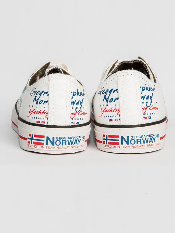 Мужские кеды сникерсы на шнуровке от Geographical Norway - Фото 3