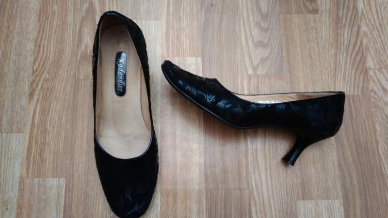 Черные кожаные туфли Kadandier
