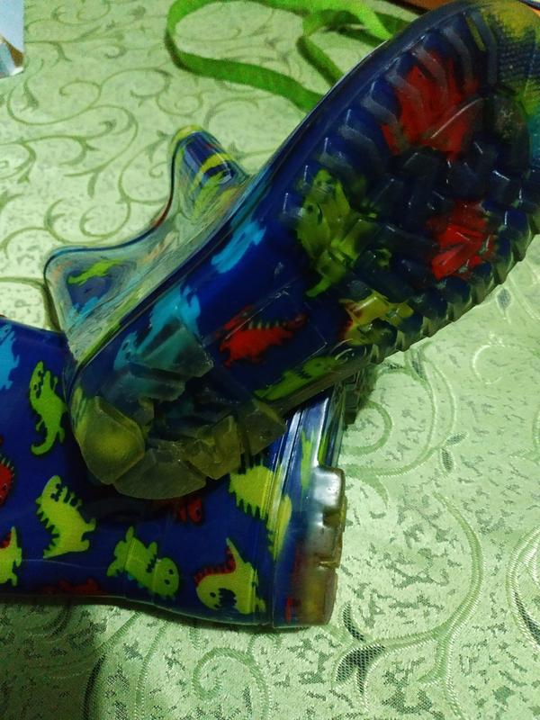 Резиновые сапожки с динозаврами - Фото 2