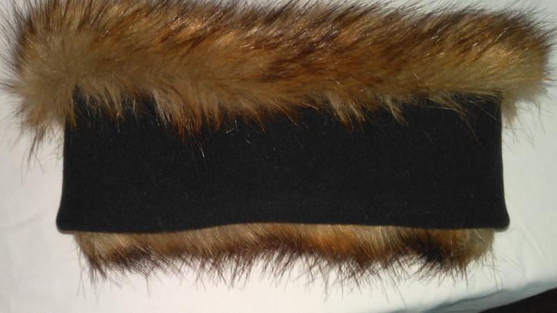 Очень  классная,  теплая полоска на голову из натурального  меха - Фото 2