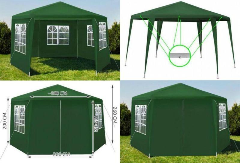 Палатка павильон шатер з 4стенками Садовий павільйон Беседка Тент