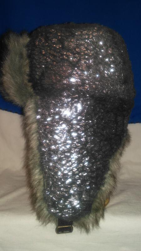 Для  модной  девушки очень  классная  шапка ушанка серебристая... - Фото 3