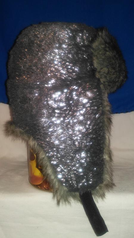 Для  модной  девушки очень  классная  шапка ушанка серебристая... - Фото 4