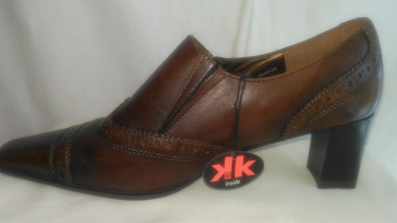 Очень  красивые кожаные туфли - Фото 2