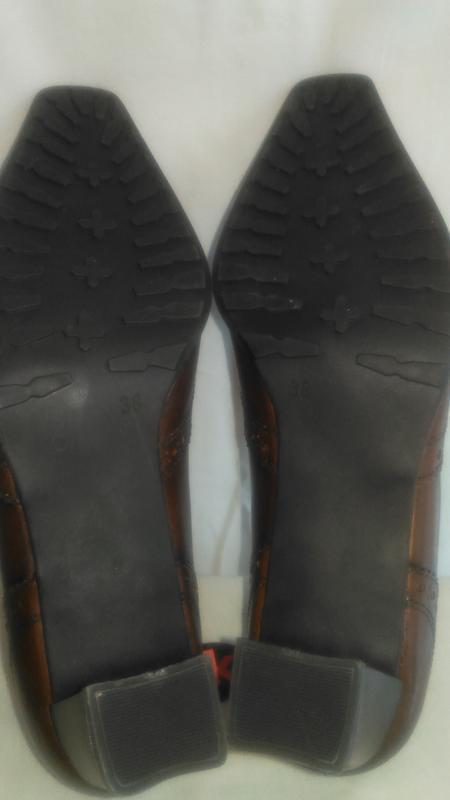 Очень  красивые кожаные туфли - Фото 4
