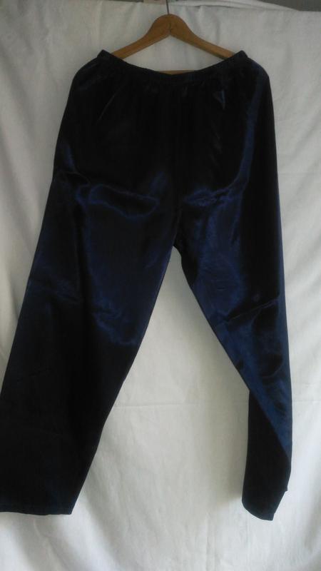 Пижамные брюки женские  тёмно синие - Фото 2