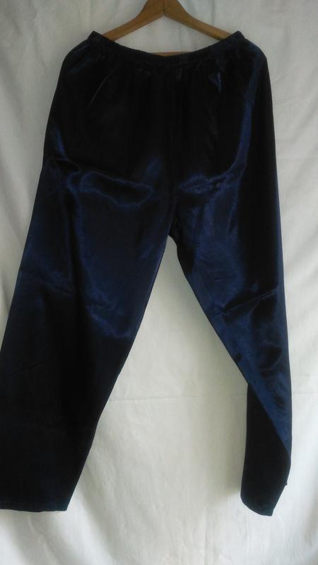 Пижамные брюки женские  тёмно синие - Фото 3