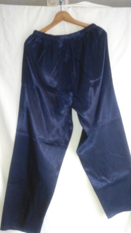 Пижамные брюки женские  тёмно синие - Фото 4