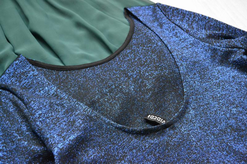 Эффектное платье с люрексом длинный рукав h&m - Фото 4