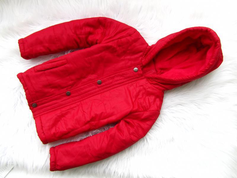 Стильная теплая куртка парка с капюшоном juniors