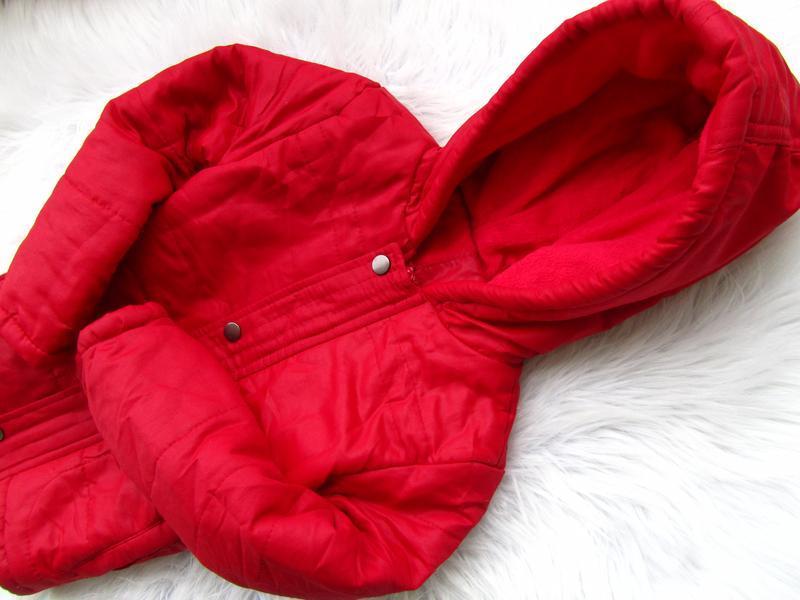 Стильная теплая куртка парка с капюшоном juniors - Фото 2