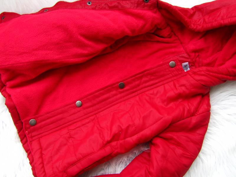 Стильная теплая куртка парка с капюшоном juniors - Фото 3