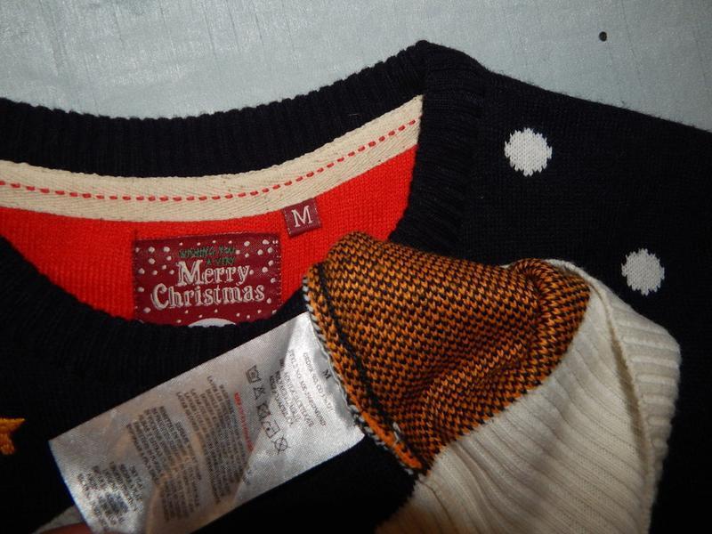 Свитер новогодний с оленем мужской рм новый - Фото 3