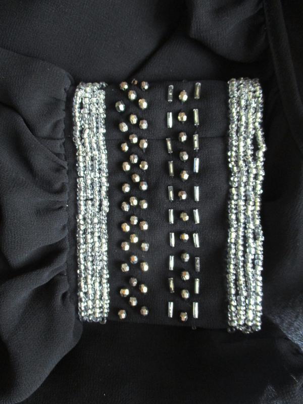 Нарядная шифоновая блуза рукава украшены бисером forever 21 - Фото 2