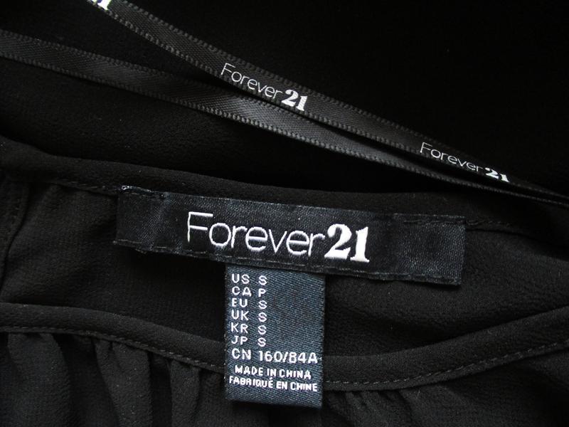 Нарядная шифоновая блуза рукава украшены бисером forever 21 - Фото 5
