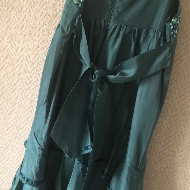 Нарядное платье на бретелях сарафан - Фото 3