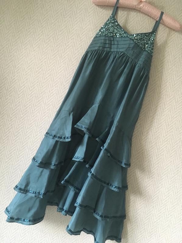 Нарядное платье на бретелях сарафан - Фото 10