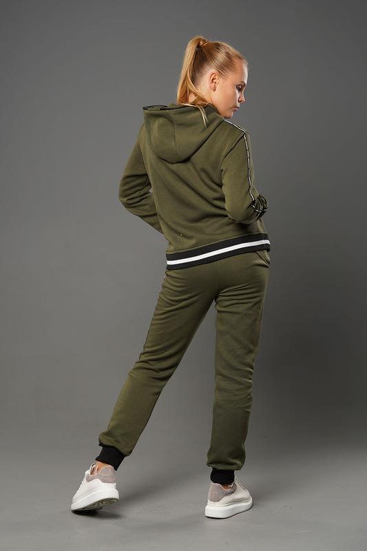 Эстер - теплый костюм с начесом, цвет хаки - Фото 2