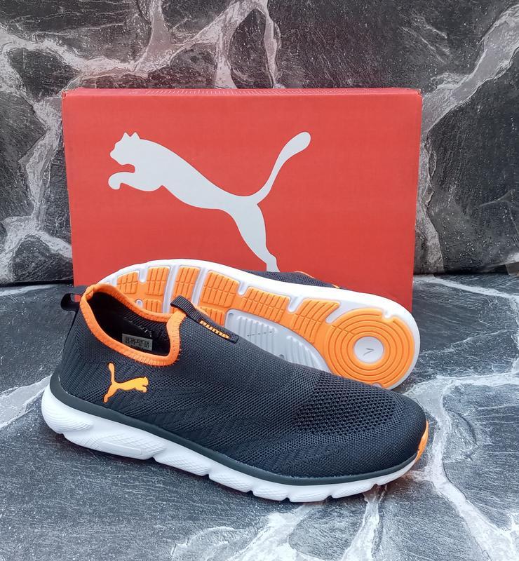 Мужские кроссовки puma classic серые,летние, беговые