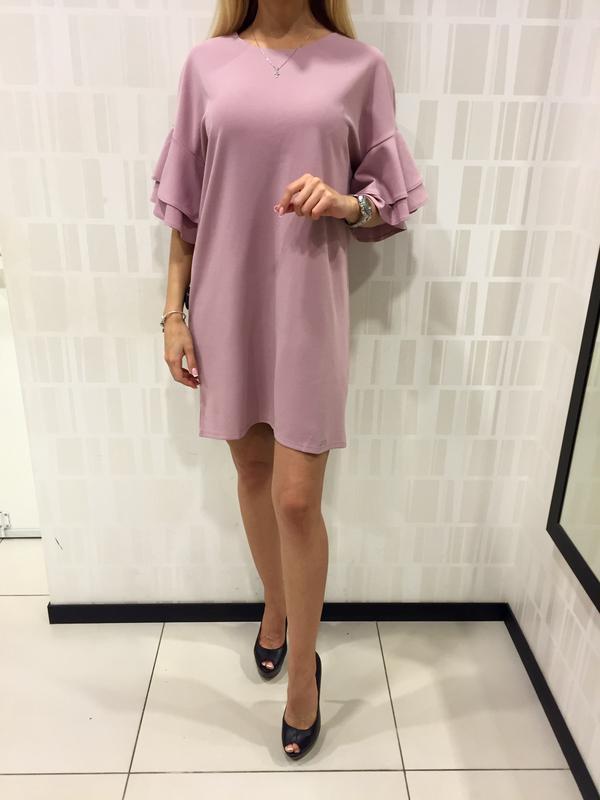 Шикарное платье пудрового цвета фирмы mohito.