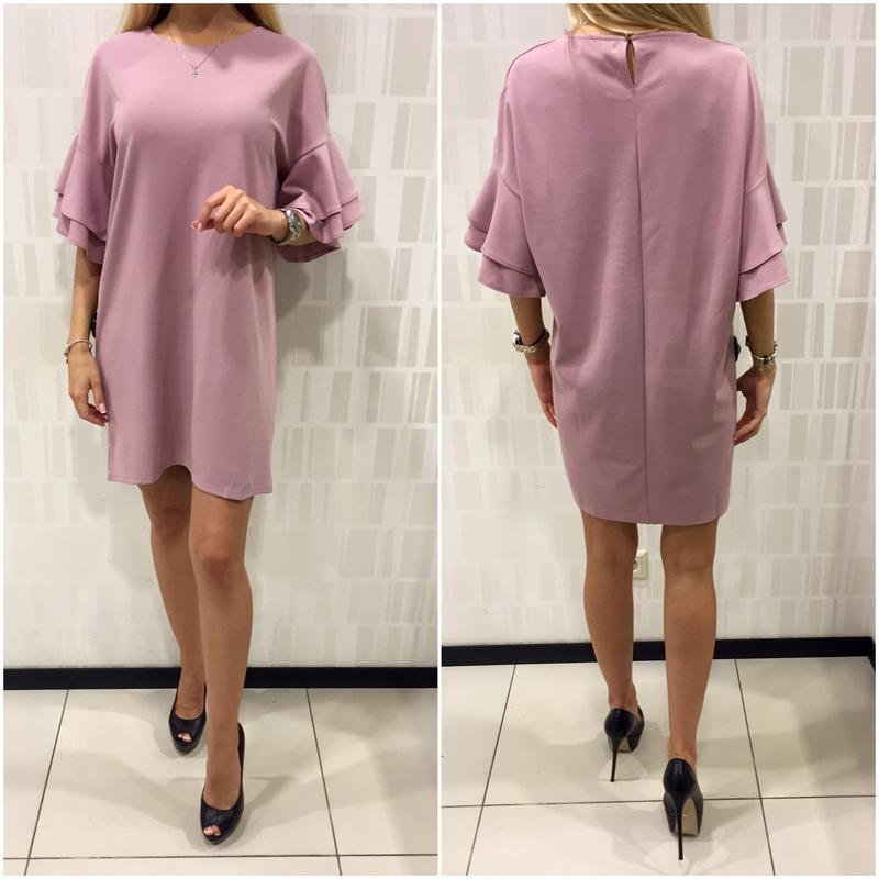 Шикарное платье пудрового цвета фирмы mohito. - Фото 2