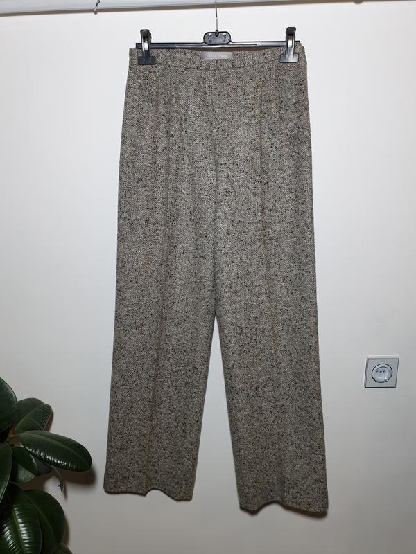 Шерстяные брюки с высокой посадкой прямые max mara