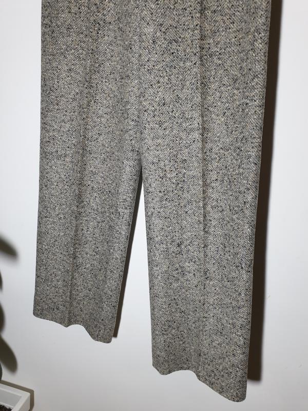 Шерстяные брюки с высокой посадкой прямые max mara - Фото 2