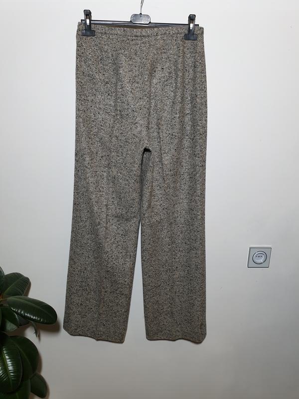Шерстяные брюки с высокой посадкой прямые max mara - Фото 5