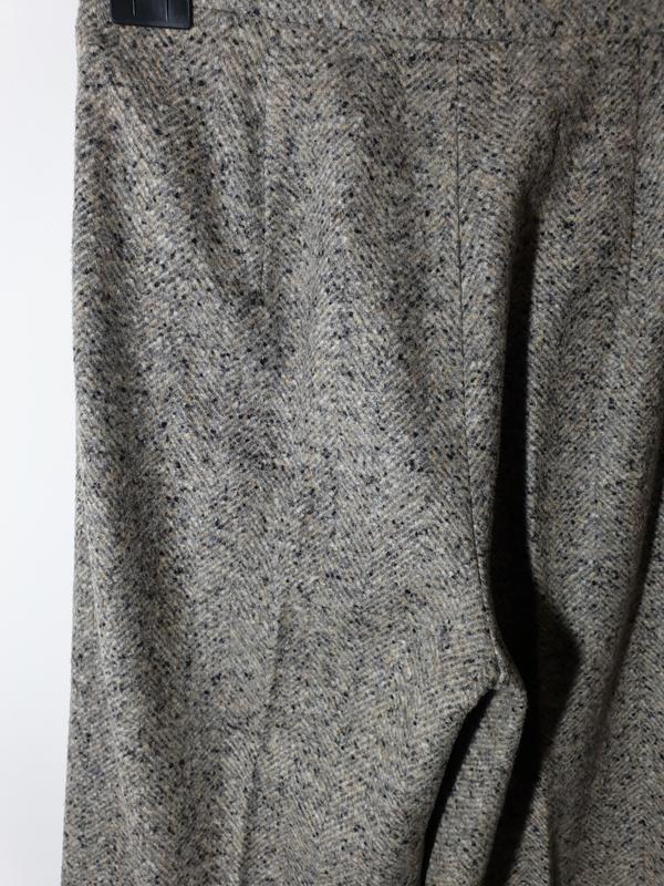 Шерстяные брюки с высокой посадкой прямые max mara - Фото 6