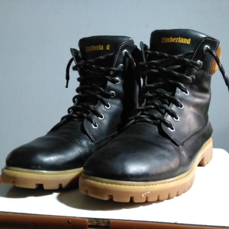 Кожаные змние ботинки