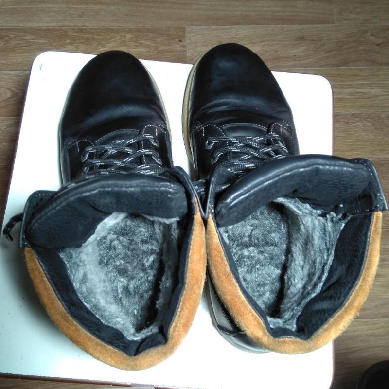 Кожаные змние ботинки - Фото 5