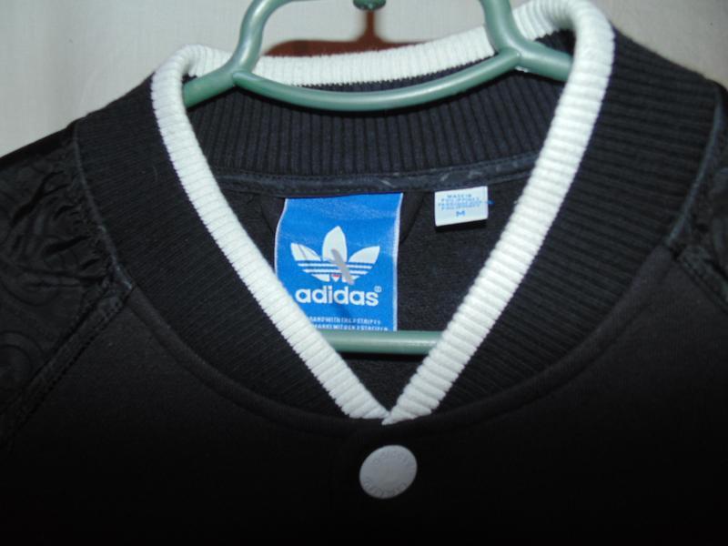 Куртка бомбер adidas оригинал утепленный на осень , состояние ... - Фото 5