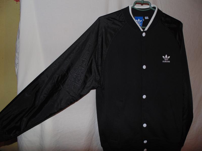 Куртка бомбер adidas оригинал утепленный на осень , состояние ... - Фото 2