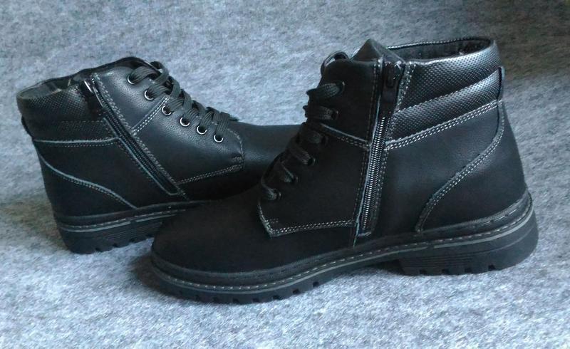 Зимние ботинки, натуральная кожа, цигейка - Фото 2