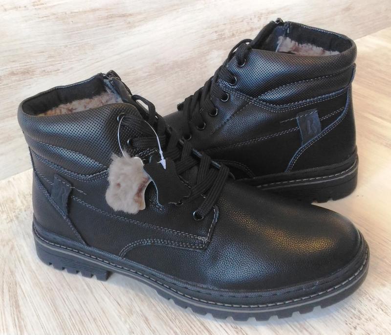 Зимние ботинки, натуральная кожа, цигейка - Фото 10