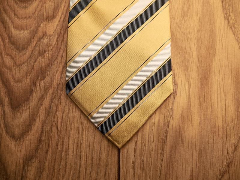 Стильный винтажный шелковый галстук - Фото 2