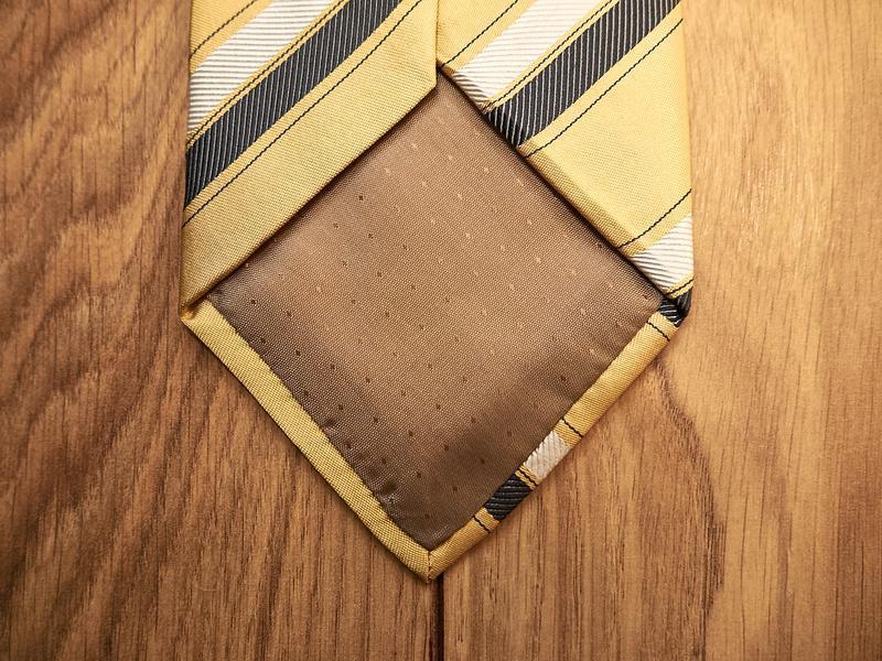Стильный винтажный шелковый галстук - Фото 3